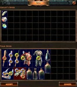 Path of Exile 40% vendor recipe.